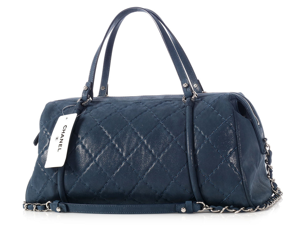 Chanel Navy Blue Bowling Bag