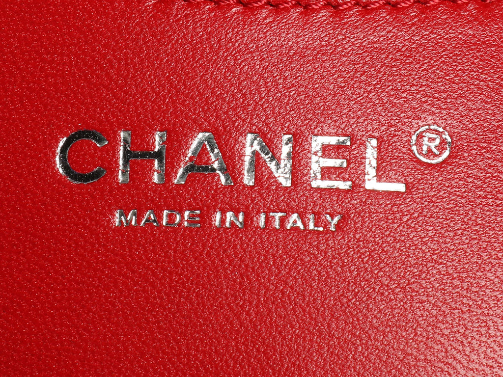 Chanel Small Rouge Patent Just Mademoiselle Bowler Bag