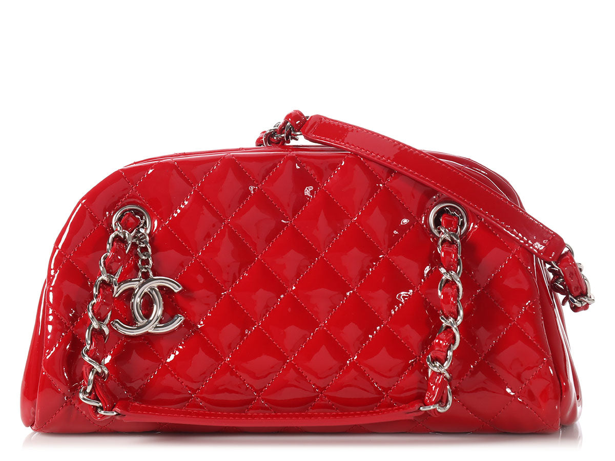 580f412bafc Chanel Small Rouge Patent Just Mademoiselle Bowler Bag - Ann's Fabulous  Closeouts