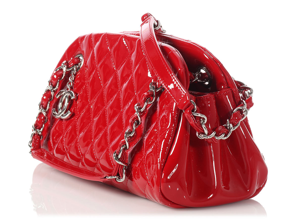 8843f11c3478 Chanel Small Rouge Patent Just Mademoiselle Bowler Bag - Ann s ...
