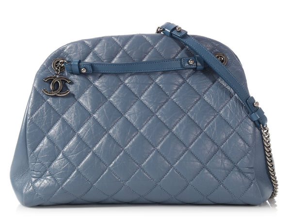Chanel Large Bleu Foncé Calfskin Just Mademoiselle Bowler Bag