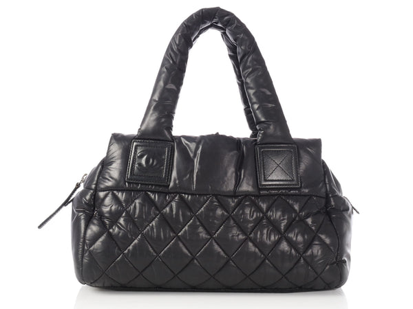 Chanel Black Nylon Cocoon Frame Bag