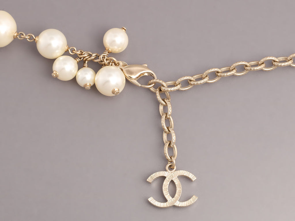 Chanel Long Pearl Cluster Necklace