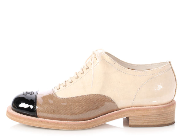 Chanel Tricolor Oxfords