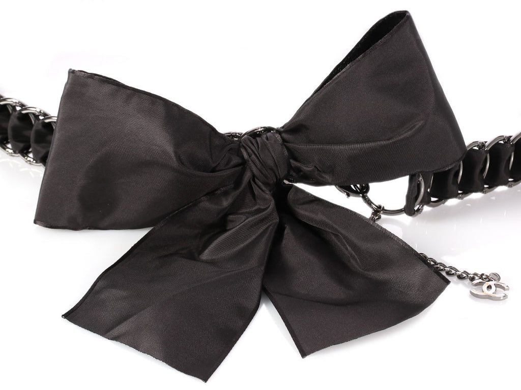 Chanel 2005 Black Bow Belt