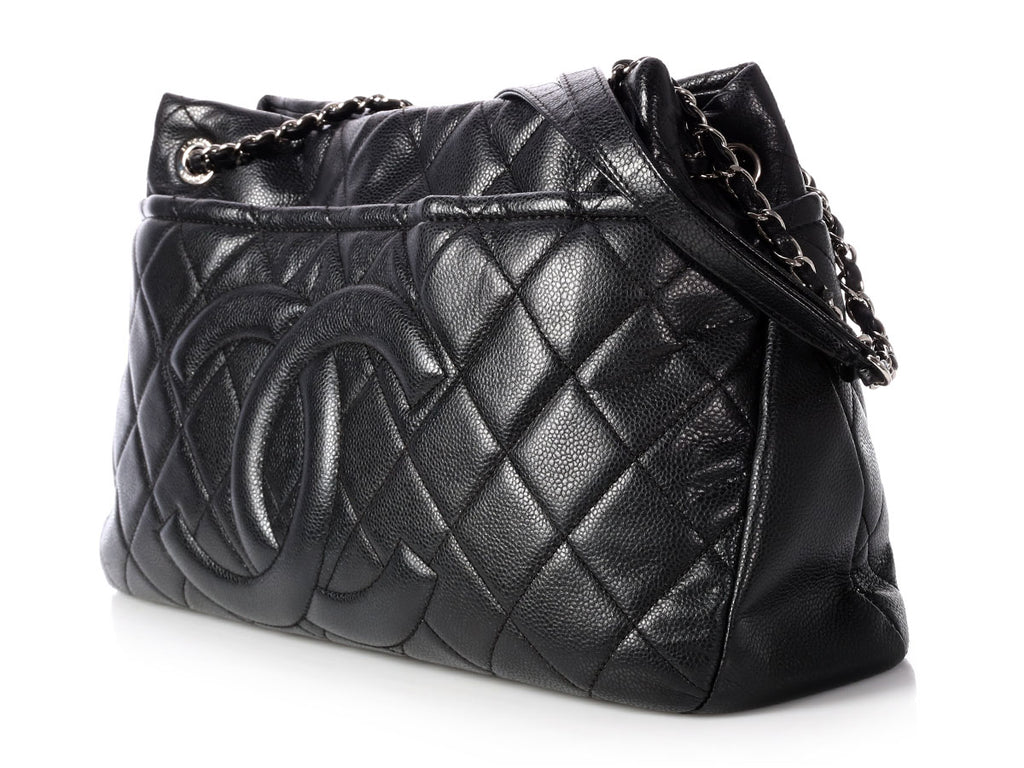 Chanel Black Quilted Caviar CC Timeless Tote