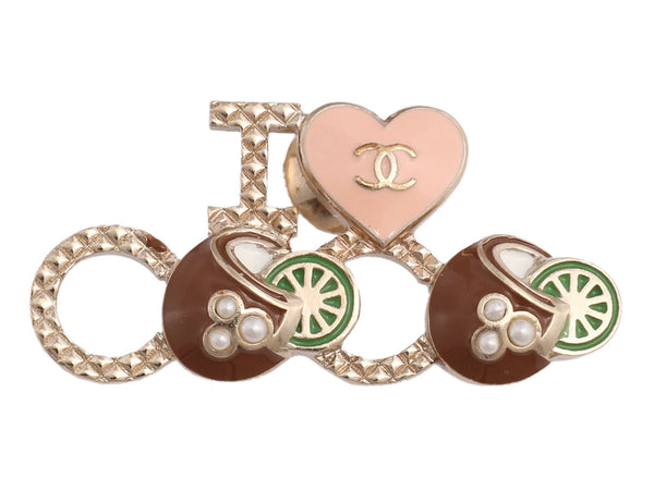 Chanel I Love Coco Coconuts and Limes Pin