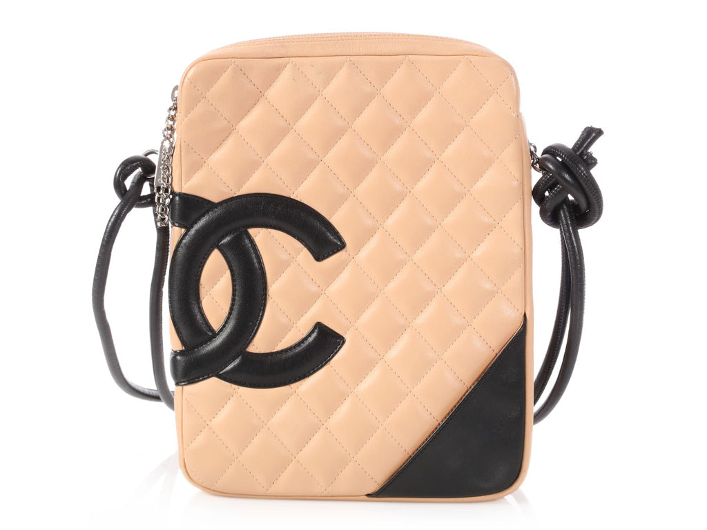 Chanel Beige and Black Cambon Messenger