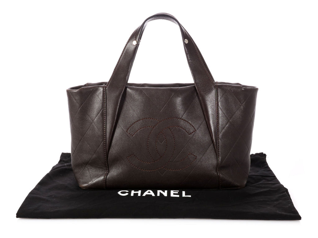 Chanel Brown Quilted Calfskin Handbag