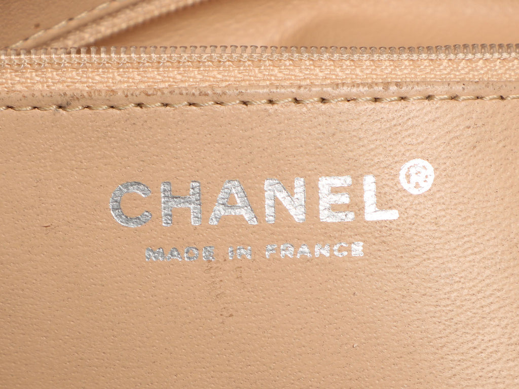 Chanel Brown Quilted Distressed Glazed Calfskin Modern Chain Flap