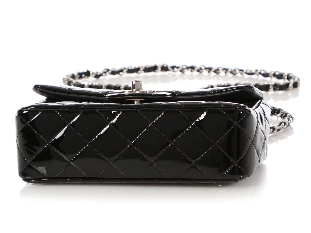 Chanel Black Quilted Patent Mini Classic