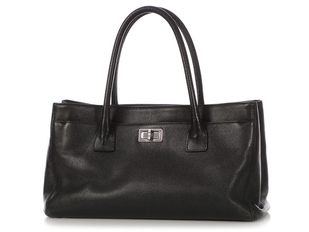 Chanel Black Caviar Reissue East/West Cerf Tote