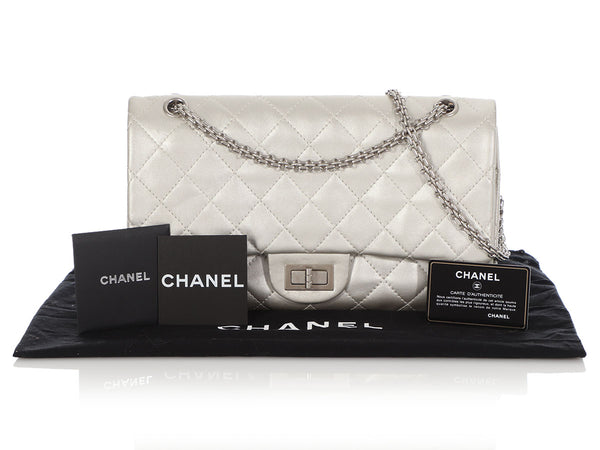 Chanel Silver Quilted Calfskin 2.55 Reissue 227