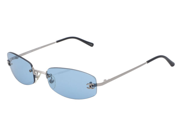 Chanel Blue Rimless Sunglasses
