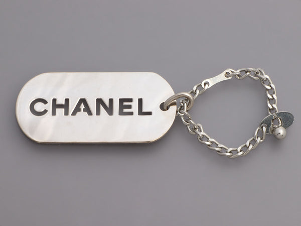 Chanel Dog Tag Bag Charm/Keychain