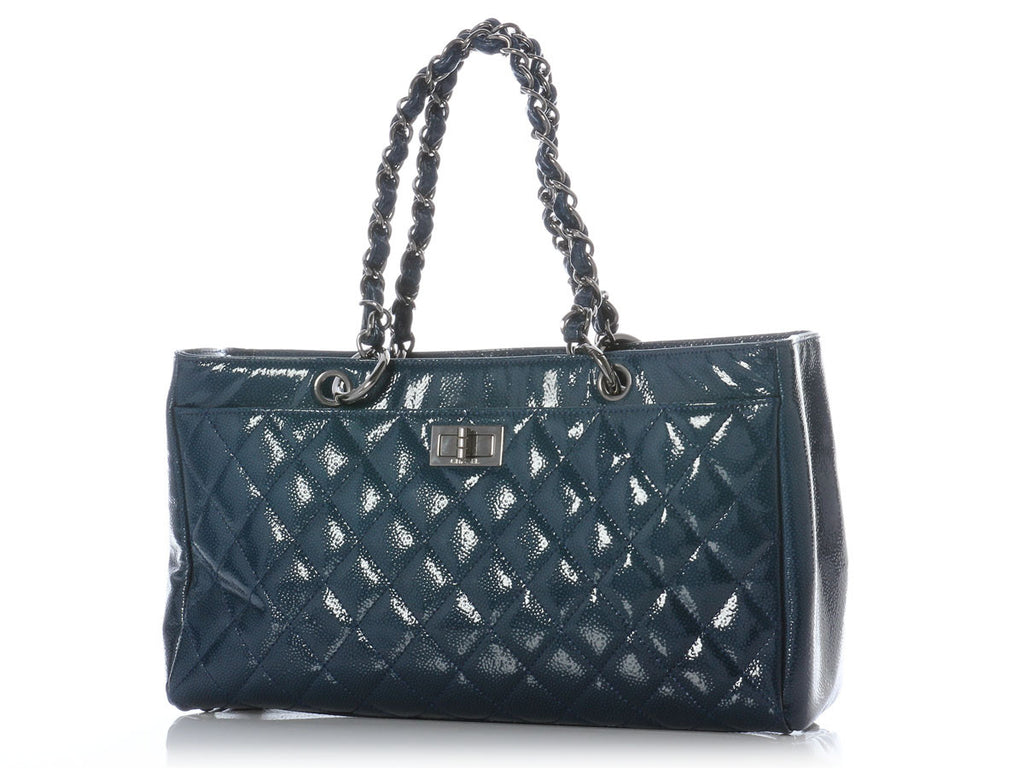 Chanel Blue Diamond Shine Reissue Shopper