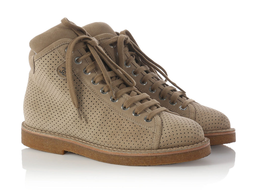 Chanel Taupe Short Boots