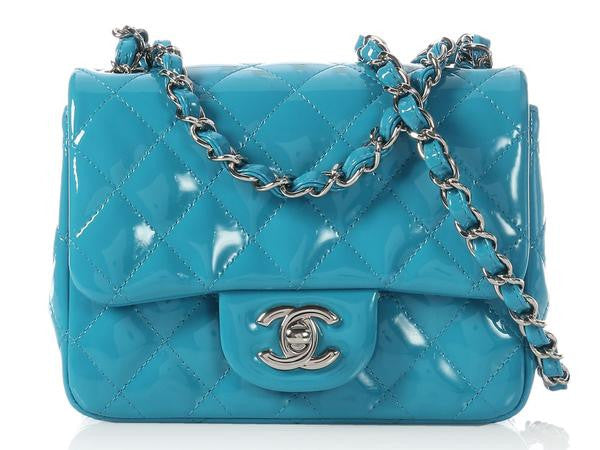 Chanel Turquoise Patent Mini Classic