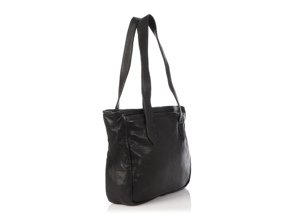 Chrome Hearts Black Distressed Leather Tote
