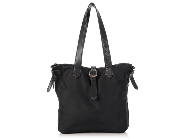 Chrome Hearts Black Nylon Expandable Tote