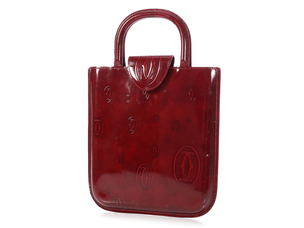 Cartier Burgundy Happy Birthday Tote