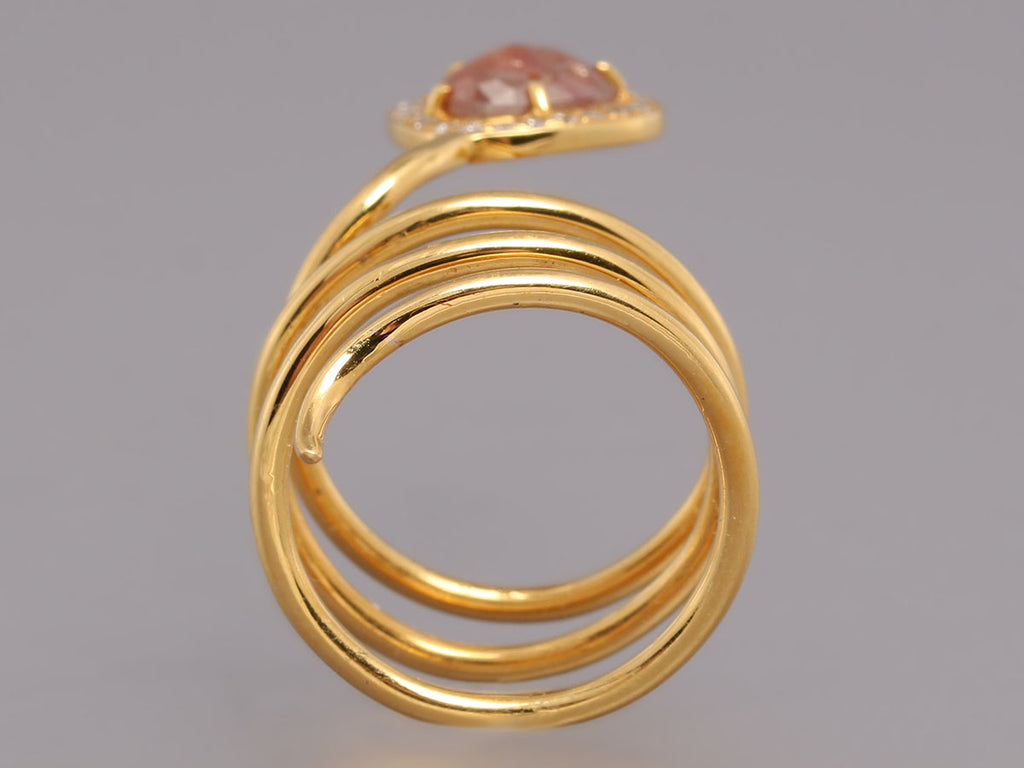 18K Gold Diamond Twist Ring