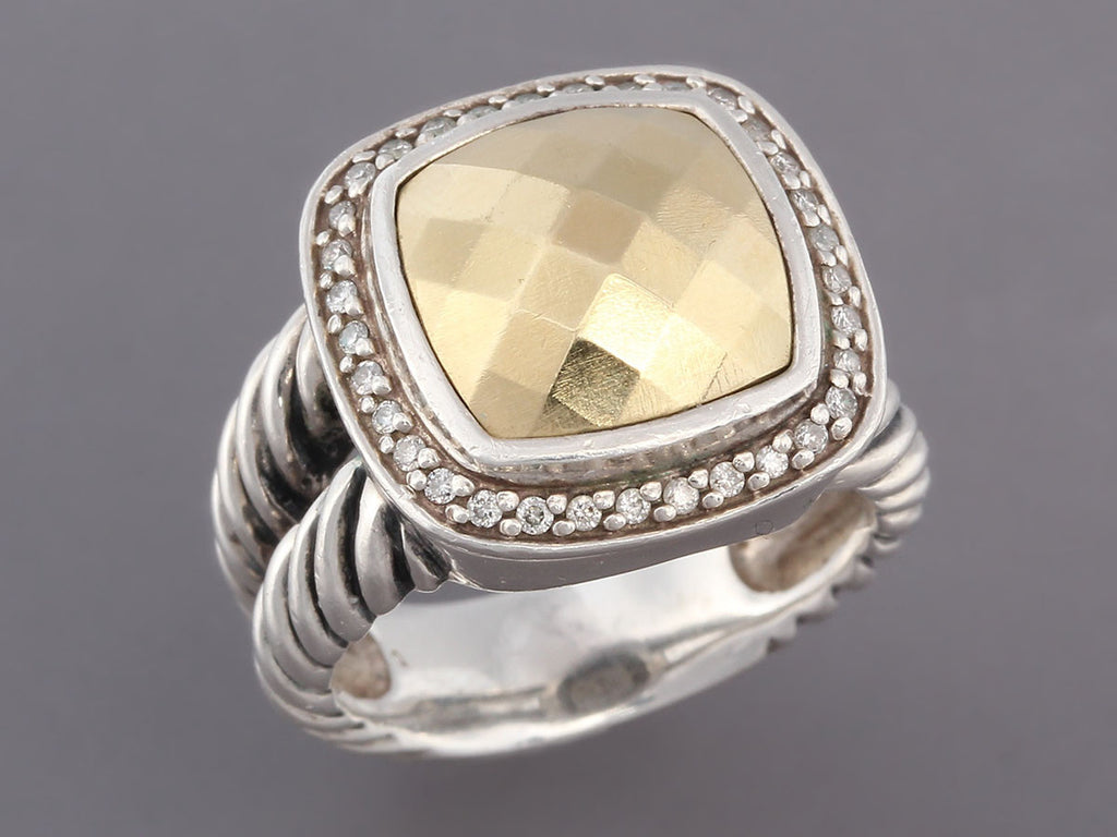 David Yurman Two Tone Diamond Albion Ring