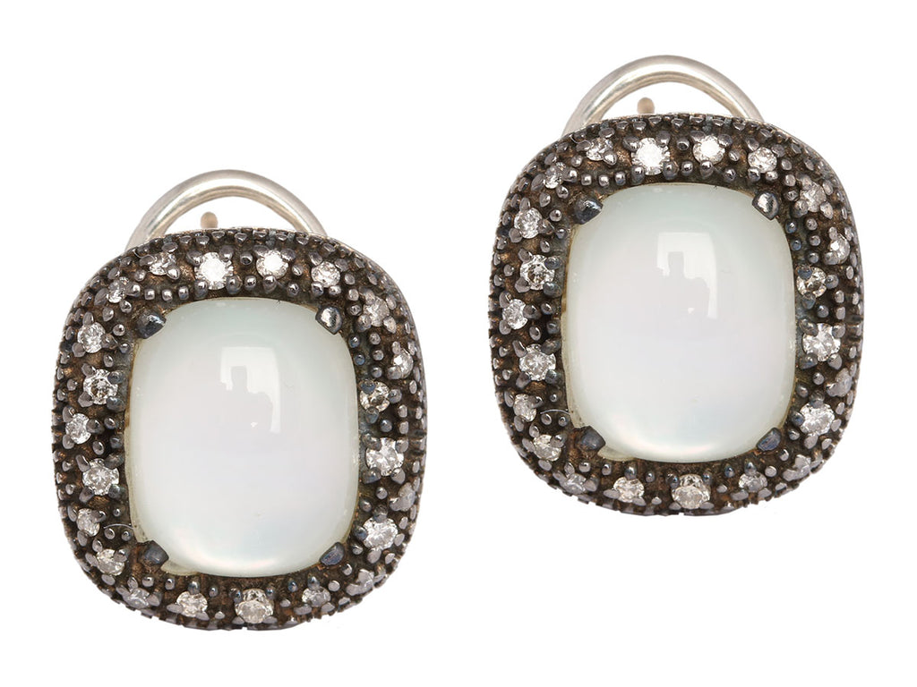 David Yurman Midnight Mélange Moon Quartz Earrings