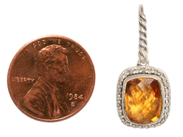David Yurman Citrine/Diamond Noblesse Earrings