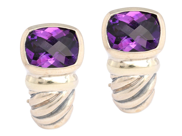 David Yurman Amethyst Shrimp Earrings