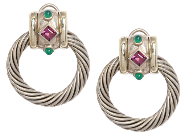 David Yurman Renaissance Door Knocker Earrings