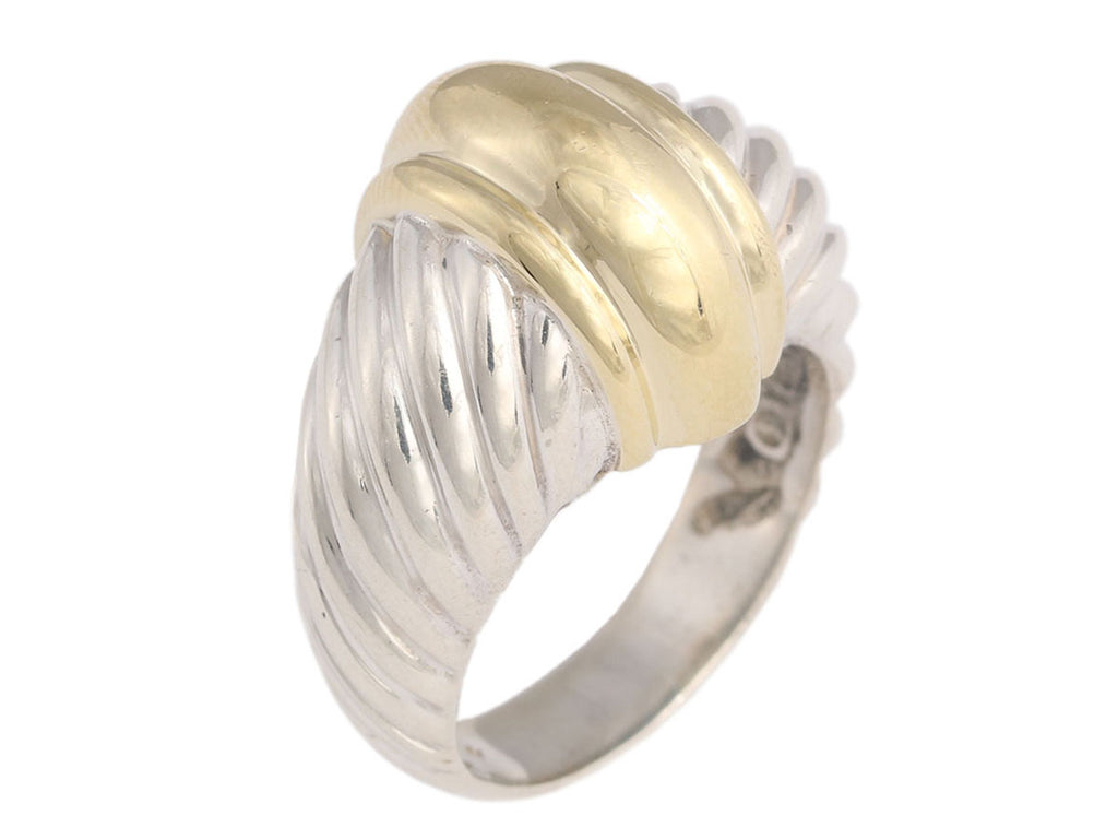 David Yurman Two-Tone Shrimp Dome Ring