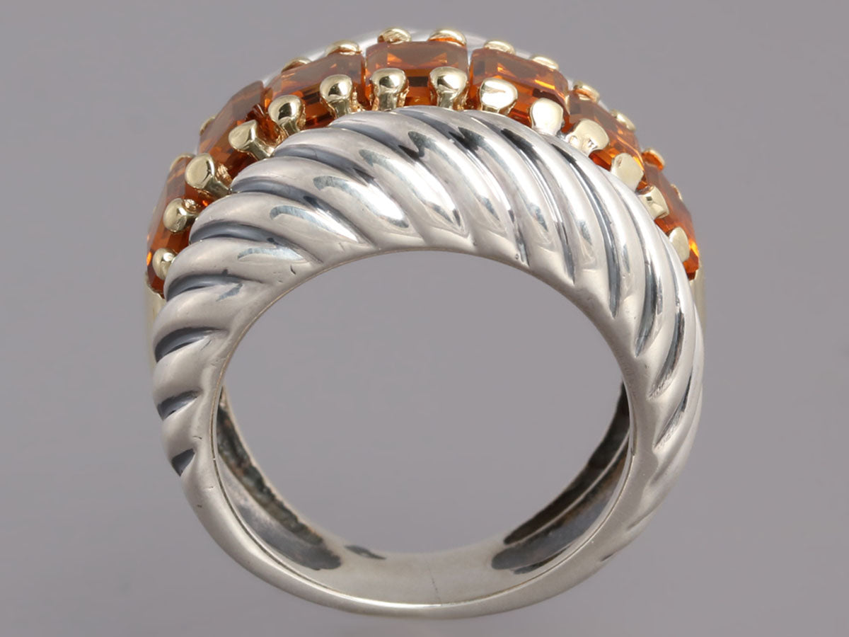 c86924fd17552 David Yurman Sterling Silver and 14K Gold Citrine Ring