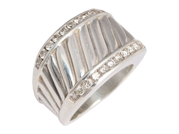 David Yurman Sterling and Diamond Cigar Band