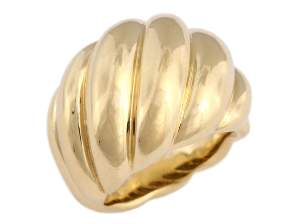 David Yurman 18K Yellow Gold Hampton Cable Ring