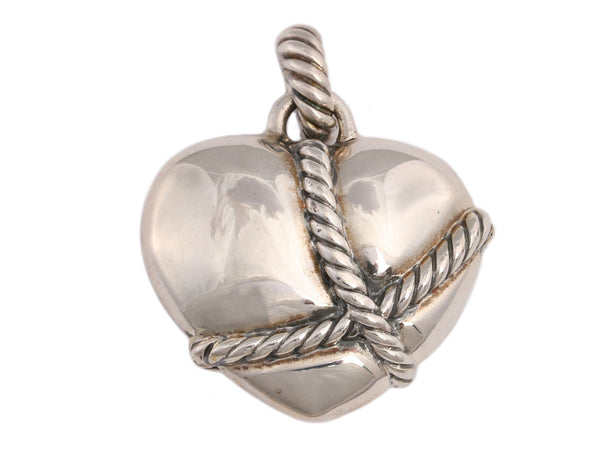 David Yurman Sterling Silver Wrapped Heart Pendant