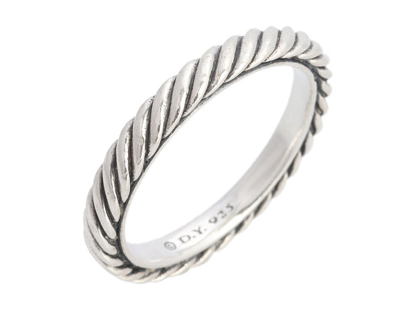 David Yurman Narrow Sterling Silver Cable Band Ring