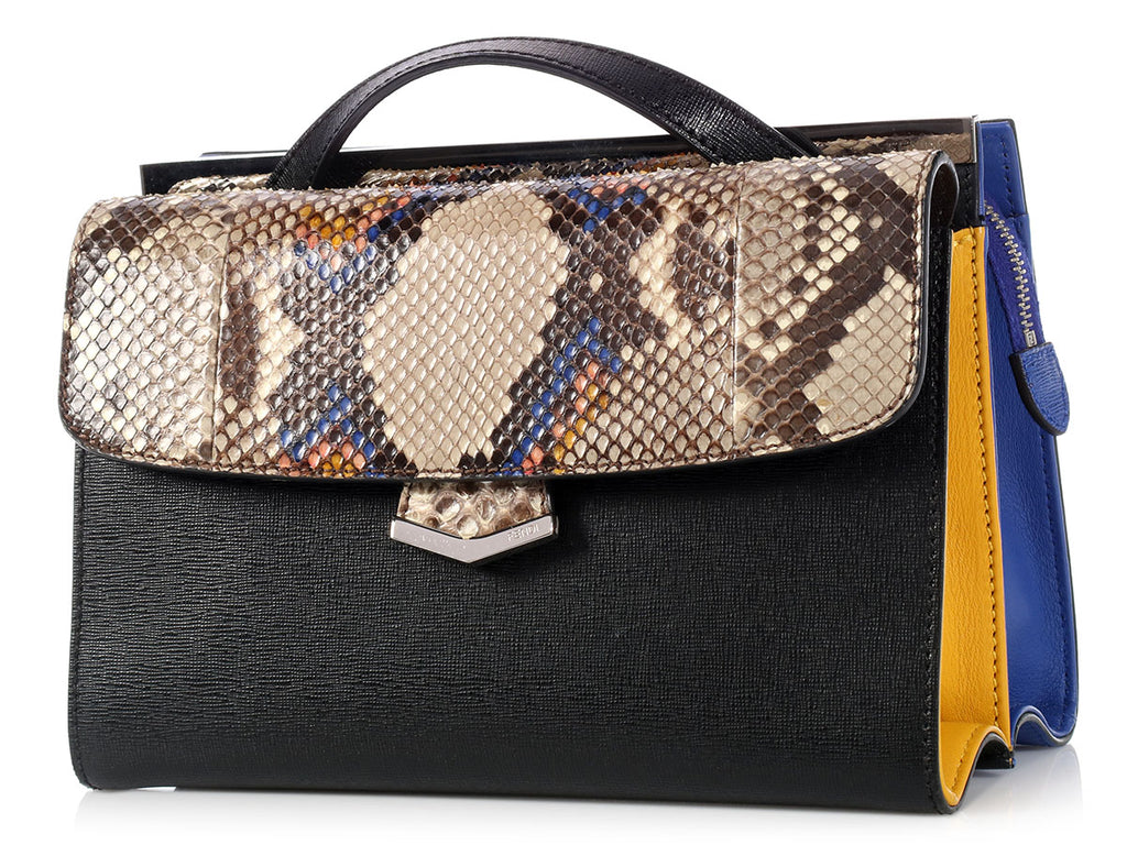 Fendi Color Block Python Demi Jour