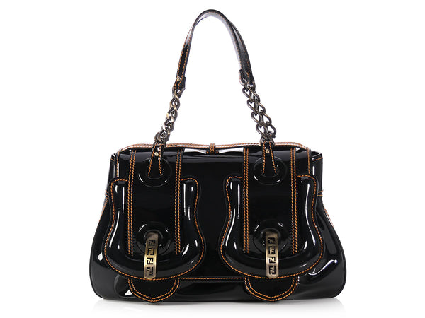 Fendi Black Patent B Bag