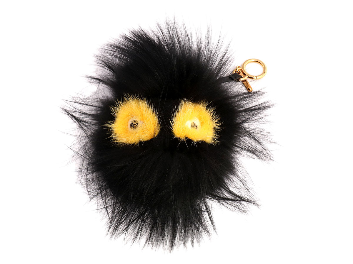 c2122cfdf61 Fendi Black Fur Fusto Monster Bag Bug Charm - Ann's Fabulous Closeouts