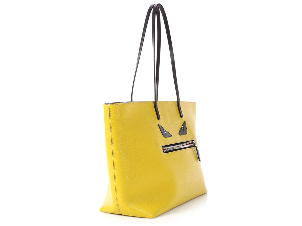 Fendi Yellow Monster Roll Tote
