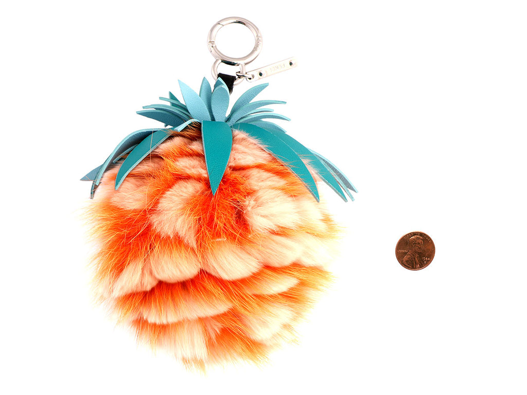 Fendi Pineapple Pom Pom Bag Charm