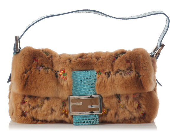 Fendi Beaded Fur Baguette