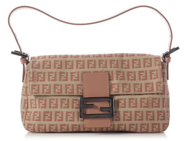 Fendi Dusty Rose Monogram Baguette