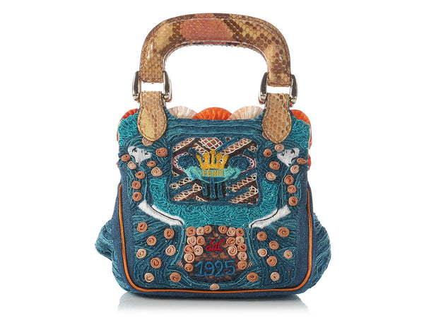 Fendi Small Biancaneve Embroidered Handbag