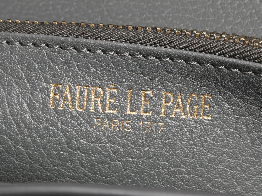 Fauré Le Page Gray Rabat Wallet on a Chain