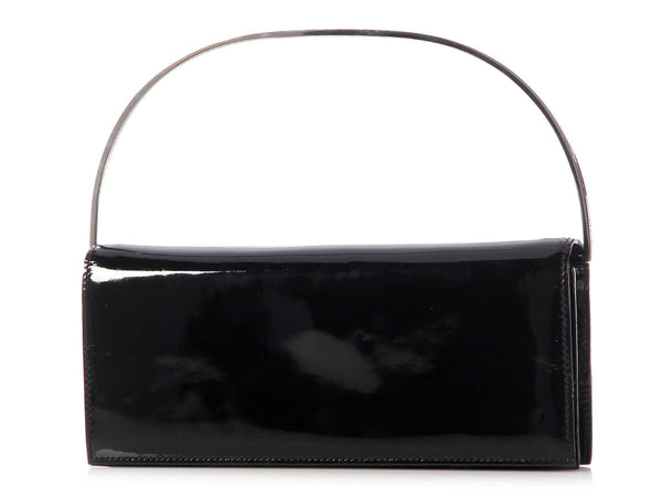 Gucci Black Patent Evening Bag