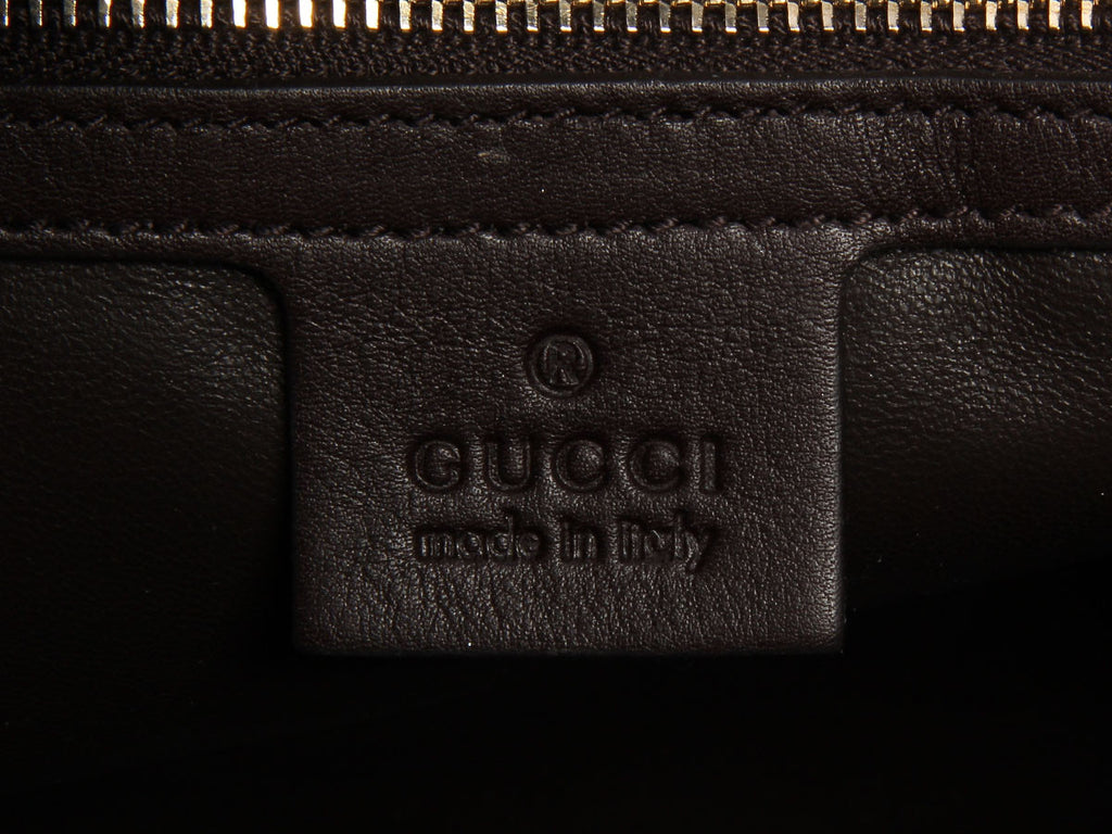 Gucci Brown Python Bamboo Handle Bag