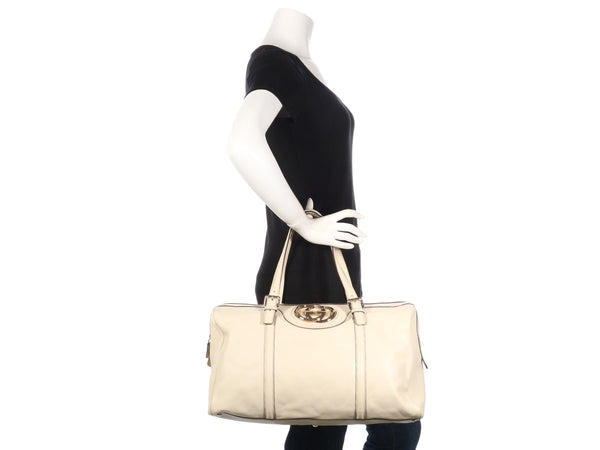 Gucci Large Ivory Britt Boston Bag