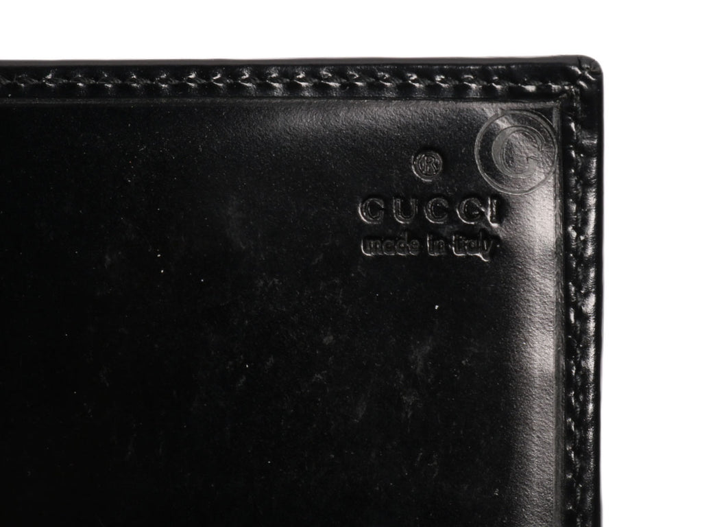 Gucci Black Leather Long Wallet